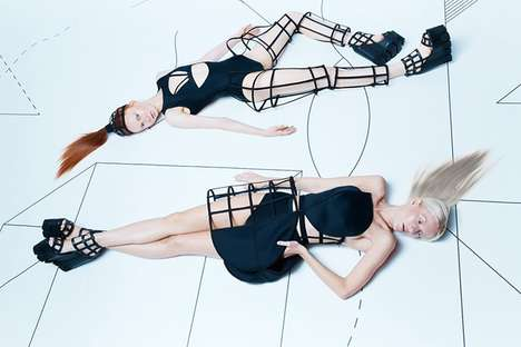 Caged Couture Catalogs - The Chromat Formula 15 Collection Features Wireframe Design Accents