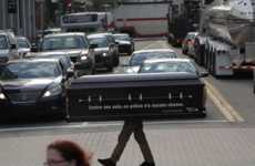 Morbid Safety Marketing - This Stunt Delivers a Grim Message About Pedestrian Safety