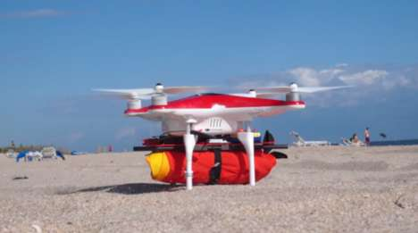 Swimmer-Rescuing Drones - The Project Ryptide Drone Drops Life-Rings To Distressed Swimmers