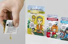 Anime Herb Packets - Arctic Warriors' Healthy Herb Remedy Packaging Takes Cues from Anime Cards