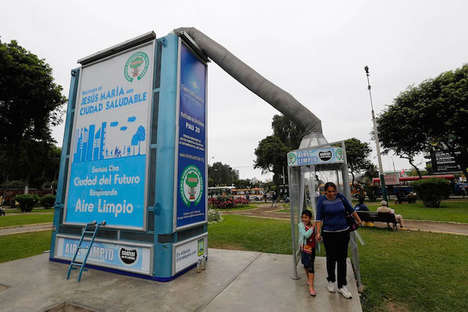 Gigantic Air Purifiers - Jorge Gutierrez's Big Air Purifier Sucks Up Smog in Lima, Peru