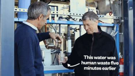 Potable Waste Water - Bill Gates Drinks Water That Was Converted from Sewer Sludge