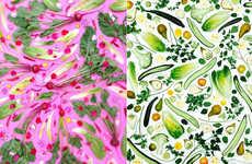 Artful Vegetable Arrangements - Instagram User rawveganblonde Captures Patterned Produce Portraits