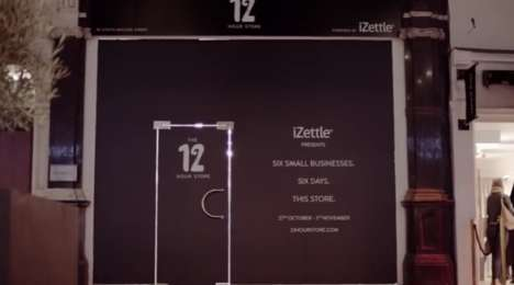 Temporary 12-Hour Stores - iZettle's Temporary Store Hosts Small Businesses for Just 12 Hours