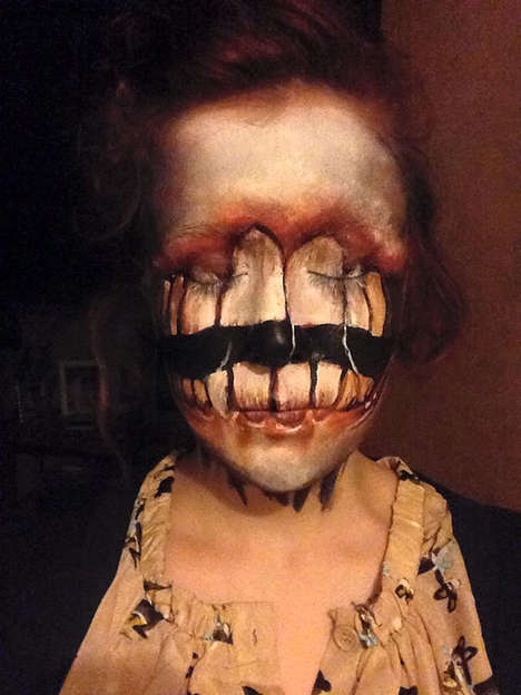 Terrifying Makeup Transformations - Redditor Manatee94 Creates Gory and Gruesome Face Paintings