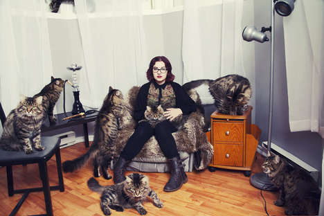 Crazy Cat Lover Photography - Andreanne Lupien Trains Her Lens on Obsessive Cat Enthusiasts