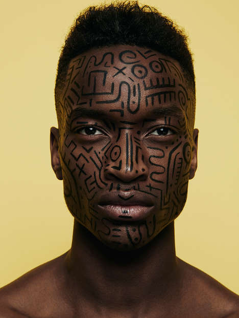Inked Cosmetic Editorials - This Fredrik Wannerstedt Photo Series Features Oliver Kumbi