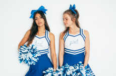 Provocative Cheerleader Editorials - Giovanni Lipari Photographs Cheergirls for a C-Heads Exclusive