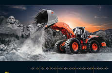 Glamorized Tractor Calendars - Bauforum24's 2015 Annual Celebrates the Power and Beauty of Machinery
