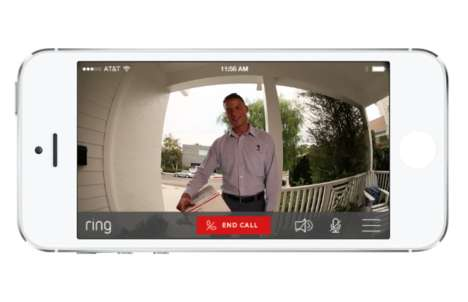 Live Video Doorbells - The Ring Device Lets You Greet Your Visitors Remotely with Your Smartphone