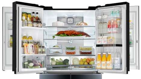 Door-in-Door Refrigerators - LG Launches an Innovative Multi-Door Refrigerator at CES