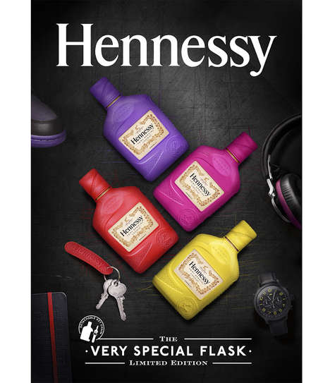 Colorful Cognac Covers - This Limited Drinking Accessory Personalizes a Hennessy Flask