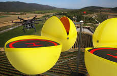 Spherical Drone Docks - Pylons Dronairports Would Serve as Charging Stations and Safe Storage