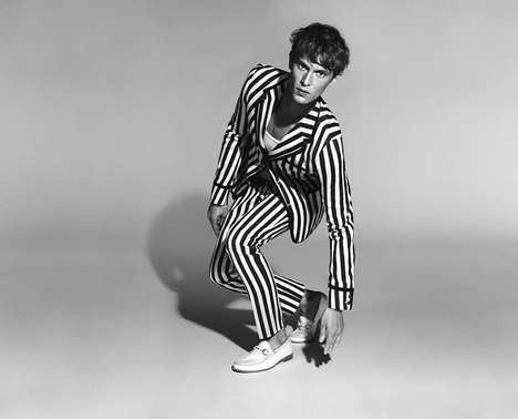 Youthfully Nautical Branding - This Gucci Menswear Ad Embraces Iconic Stripe Prints