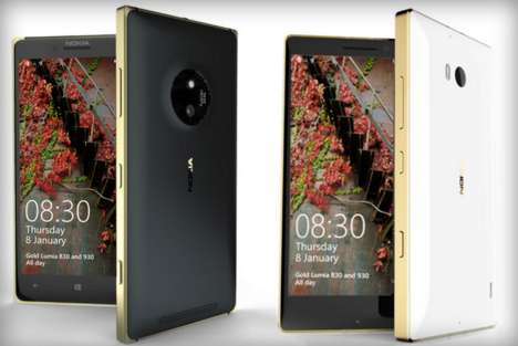 Metallic Smartphone Models - Microsoft Lumia 830 and 930 are Launched in a Gold Edition at CES 2015