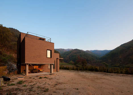 Campground-Inspired Residences - The House in Sang-an Includes Several Outdoor Features
