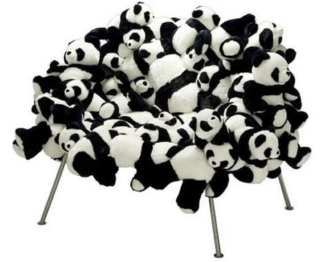 Stuffed Panda Seating