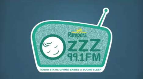 Baby-Soothing Radio Stations - Pampers' 99.1 FM Plays a White Noise Sound to Soothe Newborns