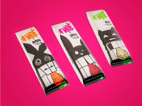 Grotesque Snack Packaging - These Illustrated Monster Wrappers Depict Consumers When They're Hungry