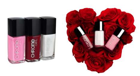 Valentine's Day Nail Polish - The Vegan 5-Free Chrome Girl Brand Introduces Three Romantic Colors