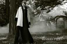 Luxe Winter Fashion - Harper's Bazaar Thailand's Winter's Tale Story is Designer-Clad
