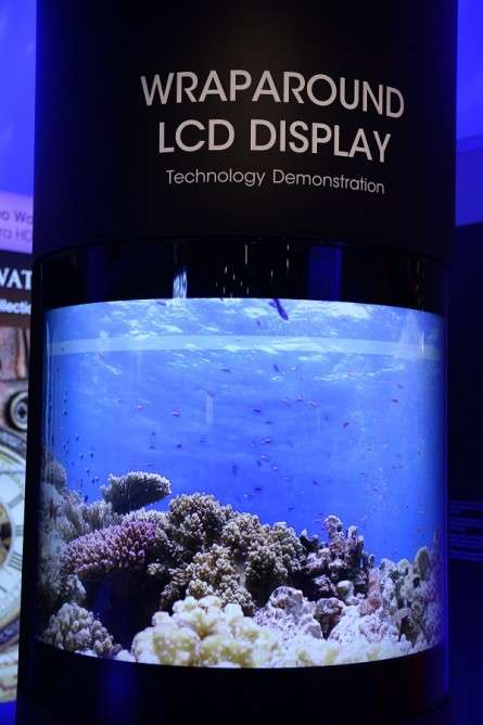 Wraparound LCD TVs - These Sharp LCD Screens Mesmerized CES 2015 Attendees