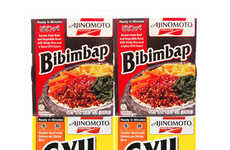 Korean Frozen Foods - The Aijinomoto Rice Bowl Set Provides Easy to Prepare Bibimbap