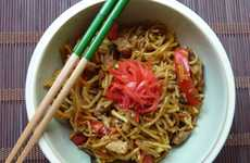 Microwavable Asian Meals - This Frozen Asian Dinner is a Quick Veggie & Noodle Microwave Meal