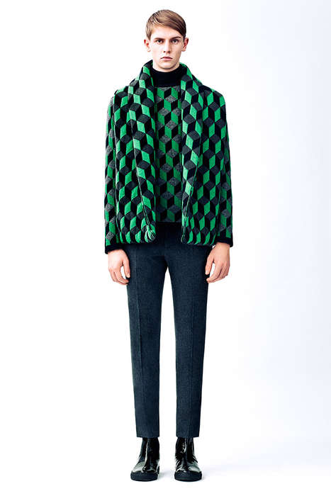Graphic Op Art Catalogs - The Latest Christopher Kane Lookbook Reveals Geometric Prints