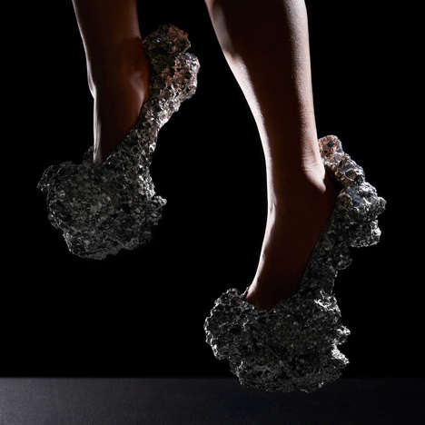 Bizarre Meteorite Stilettos - The Meteorite Shoe is Designed to Resemble Chunks of Space Rock