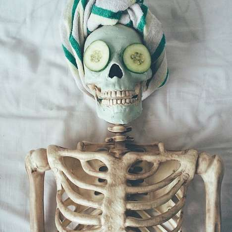 Satirical Skeleton Social Accounts - This Instagram Skeleton Can't Even and is Literally Dead