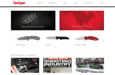 Sharp Vendor Websites - The Kershaw Knives Website Features a Clean Aesthetic