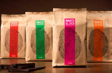 Finger Print Packaging - Innato Chocolate Branding Takes the Notion of Visual Identity Literally