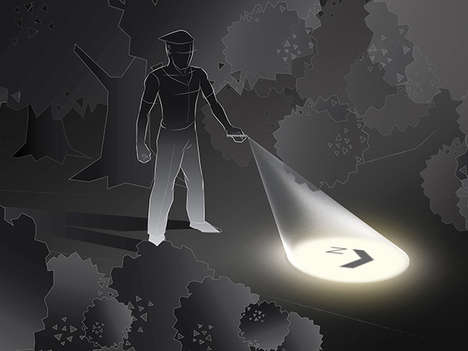 Way-Finding Flashlights - This Integrated Compass Torch Guides You Directly Out of the Darkness