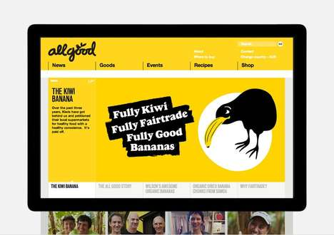 Story-Focused Online Shops - All Good Organics Sells Fair Trade Bananas on Dynamic E-Commerce Site