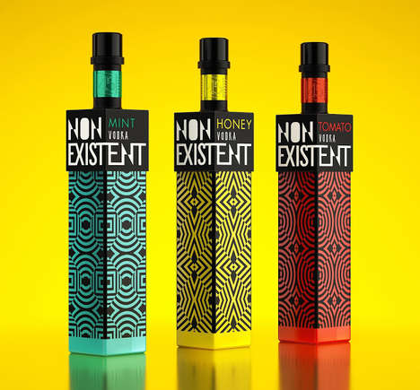 Optical Illusion Alcohol - Nonexistent Vodka Packaging Plays Tricks on Even Sober Eyes