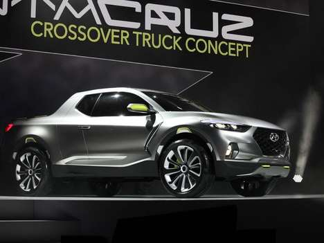 Crossover Truck Concepts - The Hyundai Crossover Truck Concept Was Revealed at the Detroit Auto Show