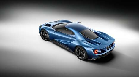 Aerodynamic Supercars - The New Ford GT Has the Most Powerful EcoBoost Production Engine Ever