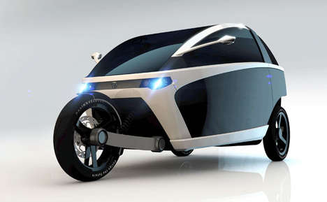 3-Wheeled Utility Vehicles - The Innvelo Three Car is Compact While Promising Great Practicality