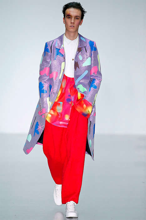 Scraped-Up Model Runways - The Latest Sankuanz Menswear Collection is Artfully Vibrant