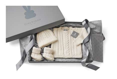 Precious Infant Clothes - Grey Rabbit Baby's Hand-Knit Garments Are Crafted with Cashmere