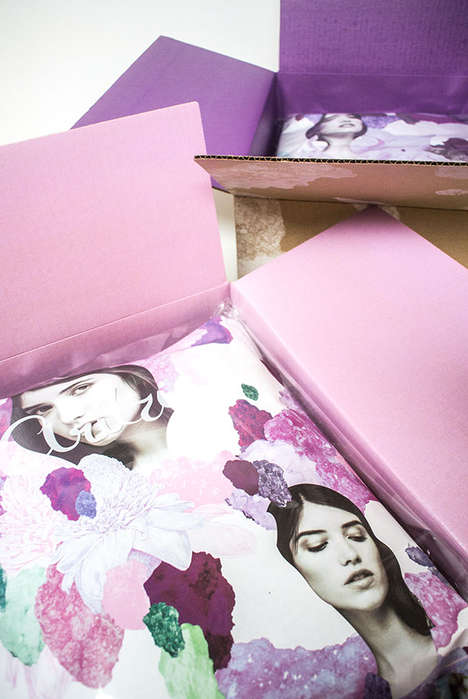 Feminine E-Retail Boxes - Aritzia's Shipping Packaging is Colorful and Fashion-Forward