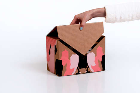 Envelope Shipping Boxes - These Printed Box Designs Show Off Maximum Style and Ease of Opening