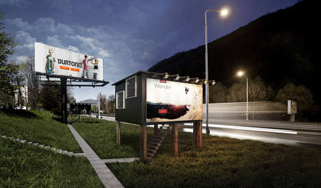 Triangular Billboard Houses - The Framework of This Small House Design is Made from Billboard Ads
