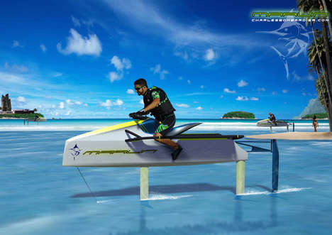 Sharp Eco Jetskis - The Environmentally Friendly Marlin Hydrofoil Mimics Nature in its Mechanics
