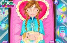 Bizarre Birthing Apps - This Frozen App Helps Anna Deliver Her Baby
