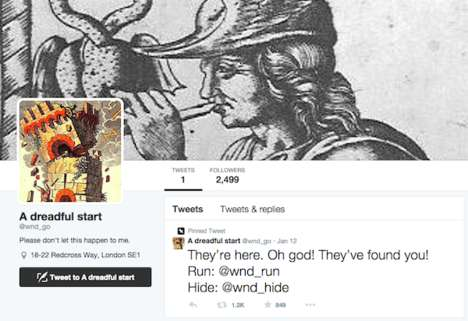 Social Adventure Accounts - This Twitter Account Initiates a Choose Your Own Adventure Game