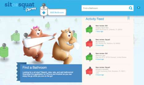 Restroom-Rating Apps - The Charmin SitOrSquat App Gives You the Scoop on a Clean Place to Poop