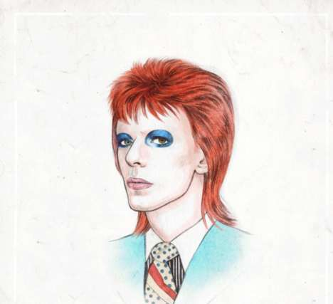 Rockstar Hairstyle Animated GIFs - The David Bowie GIF Goes Through 50 Years of Different Looks