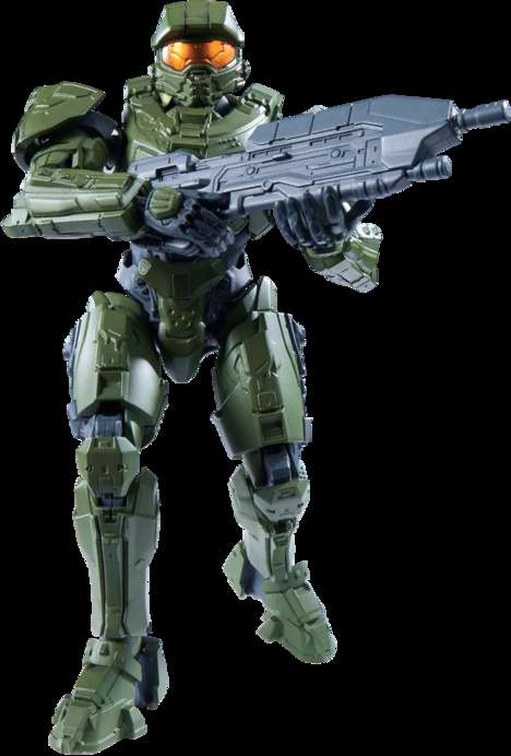 Collapsible Video Game Figurines - The SpruKits Halo Master Chief is Flat-Packed and Easy to Build